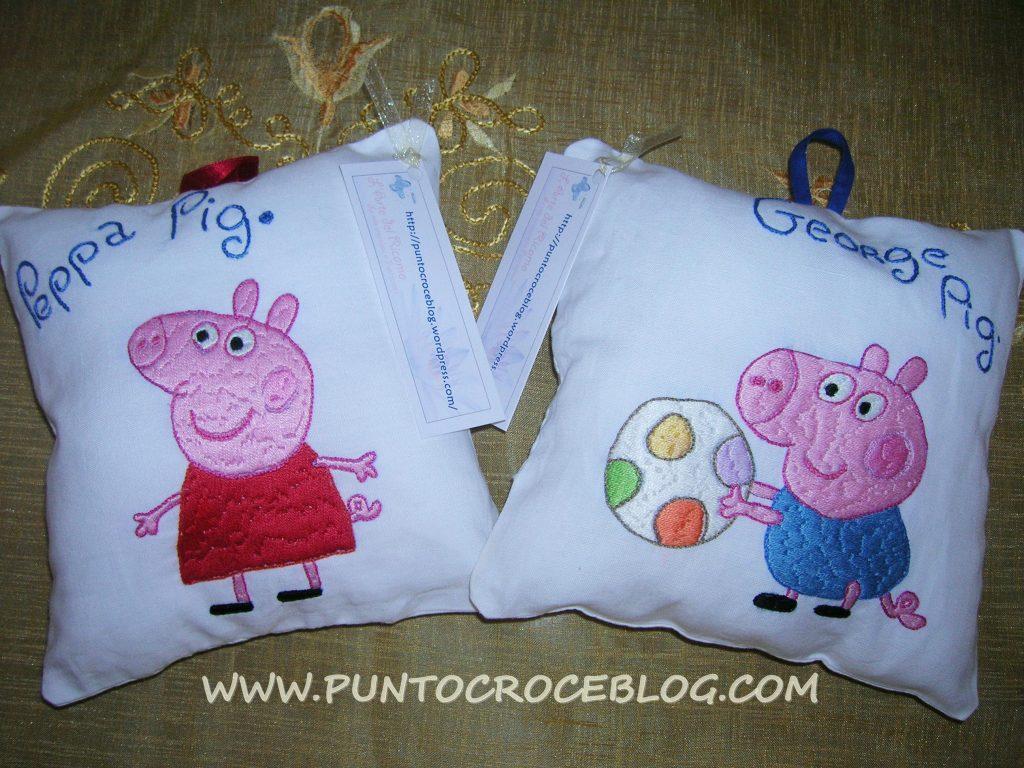 Peppa Pig ricamata a mano