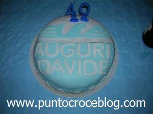 Torta compleanno in Pasta di Zucchero S.S. Lazio