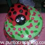 Torta compleanno Coccinella in pasta di zucchero