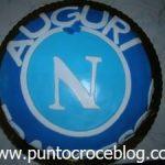 Torta compleanno in Pasta di Zucchero Napoli Calcio