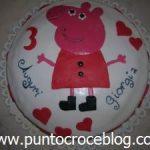 Torta compleanno in Pasta di Zucchero Peppa Pig