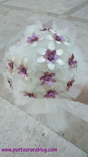 Bouquet con Fiori di smalto e fil di ferro