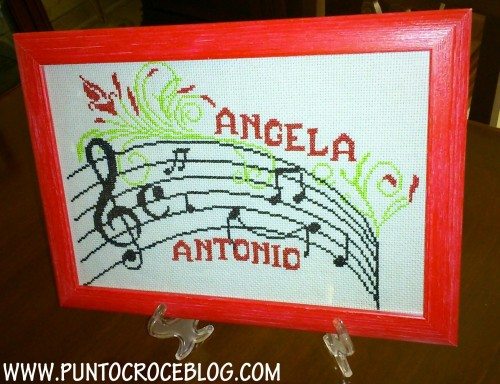 quadro a puntocroce angela antonio