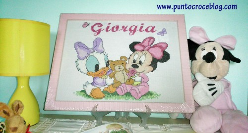 Baby Minnie e Baby Paperina Puntocroce