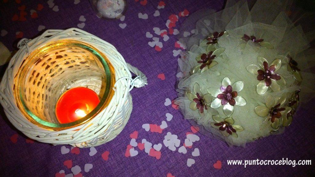 Matrimonio Shabby Chic decorazione tavolo
